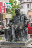 Statue of Romanian composer George Enescu in Bucharest Stock Photo