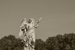 Statue in Rome.  European travel concept with roman architecture Royalty Free Stock Photo