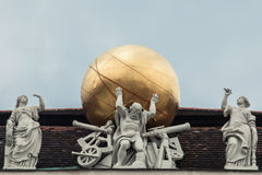 Statue on the roof in Hofburg in Vienna Stock Photo