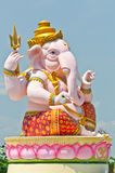 Statue rose de Ganesha Photos libres de droits