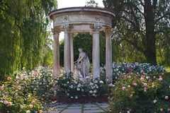 Statue in the Rose Garden at Huntington Library and Gardens Royalty Free Stock Image
