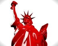 Statue rouge de NY sur le blanc Image libre de droits