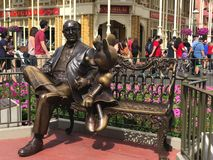 Roy O. Disney statue. The statue of Roy O. Disney co-founder of the Disney Company in the center of Main Street at Walt Disney World Royalty Free Stock Images