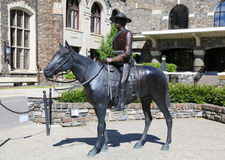 Statue Of An Royal Canadian Mounted Police Riding A Horse Stock Photos