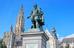 Statue of Rubens in Antwerpen , Belgium Stock Photography