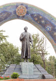 Statue of Rudaki. Dushanbe, Tajikistan Stock Photography