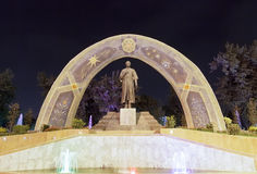Statue of Rudaki. Dushanbe, Tajikistan Royalty Free Stock Photography