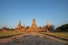 Ruins Buddhist statues, Wat Chaiwatthanaram, Phra Nakhon Si Ayutthaya Province, Thailand