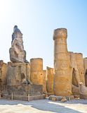 The statue among ruins Royalty Free Stock Photography