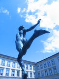 Statue runner 02. Very old part of the eldest German university Tuebingen Stock Photography