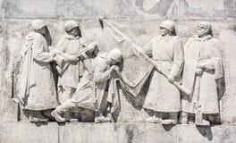 Statue russe de soulagement de soldats, Slavin - monument commémoratif en Br images stock