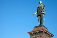 Statue of Russian czar Alexander II, Helsinki Royalty Free Stock Photo