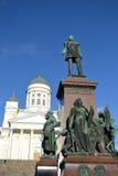 Statue of Russian czar Alexander II, Helsinki Royalty Free Stock Image