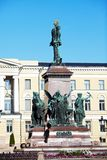 Statue of Russian czar Alexander II, Helsinki Stock Photo