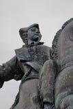 Statue of Russian Empress Elisaveta (Elizabeth) riding a horse. Stock Photo