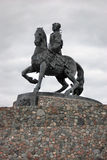 Statue of Russian Empress Elisaveta (Elizabeth) riding a horse. Royalty Free Stock Photos