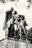 Statue of russian soldiers and the boy, Slavin - memorial monume Stock Photo