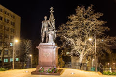 Statue of Russian tsar Nicholas II in Belgrade Royalty Free Stock Images