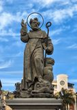 Statue of S. Antonino Abbate, patron saint of Sorrento, Italy. Pictured is a statue of the patron saint of Sorrento, Saint Antonino or Saint Anthony the Abbot Stock Image