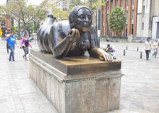 Statue's in the Botero Royalty Free Stock Photography
