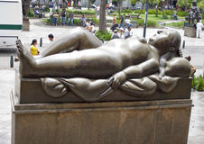 Statue's in the Botero Square Stock Image
