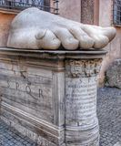 The statues legs in the Roman National Museum Stock Photography