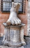 The statues legs in the Roman National Museum Royalty Free Stock Photos