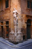 Statue of S.Luigi in Valletta city in Malta Stock Photo