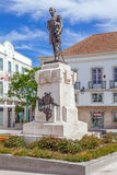 Statue of the Sa da Bandeira Viscount, placed in the centre of Sa da Bandeira Square Royalty Free Stock Photo