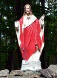 Statue sacrée superficielle par les agents de coeur Photographie stock
