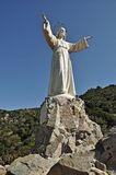 Statue of the sacred heart of Teia-Barcelona Stock Images