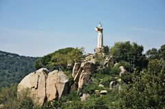 Statue of the sacred heart of Teia-Barcelona Royalty Free Stock Photo