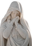 Statue of a sad woman isolated on white Stock Photography