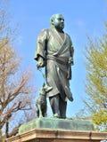 Statue of Saigo Takamori at Ueno park, Japan. Stock Photos