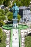 Statue Sain Carlo Borromeo Italy Mini Tiny Stock Images