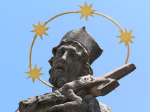 Statue of a saint royalty free stock photos