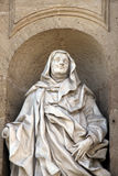 Statue of Saint Anne, baroque, marble, mantle Royalty Free Stock Image