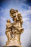Statue of Saint Anne, Charles Bridge, in Prague royalty free stock images