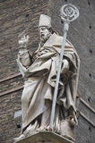 Statue of Saint Bishop Petronio, Bologna, Italy Stock Images