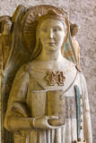 Statue of Saint Catherine of Alexandria XIVc. in Castelvecchio Museum. Verona, Stock Image