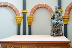 Statue of a saint in the chapel Stock Photos