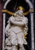 Saint Charlemagne. The statue of the Saint Charlemagne, also known as Charles the Great on the altar in the Franciscan Church of the Annunciation in Ljubljana Stock Images