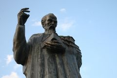 Statue of Saint Clement in Ohrid, Macedonia Royalty Free Stock Photo