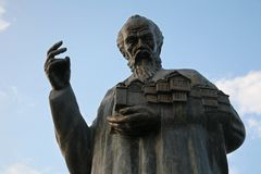 Statue of Saint Clement in Ohrid, Macedonia Royalty Free Stock Photos
