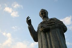 Statue of Saint Clement in Ohrid, Macedonia Stock Photography