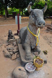 Statue of saint cow in Phnom Bakheng, Angkor Stock Photography