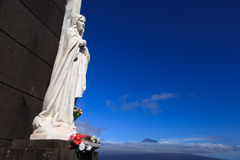 Statue of saint on Faial Island, Azores Royalty Free Stock Images