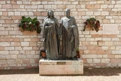 Statue of Saint Francis of Assisi parents Stock Image