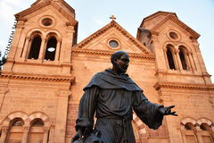 Statue of Saint Francis of Assisi, Santa Fe New Mexico. Cathedral Basilica of St. Francis of Assisi. Santa Fe, New Mexico Royalty Free Stock Photography