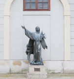 Statue of Saint Francis of Assisi Stock Photography